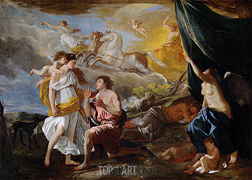 Selene and Endymion, c.1630 | Nicolas Poussin| Painting Reproduction