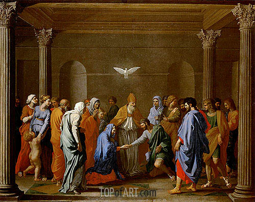 The Marriage of the Virgin, c.1638/40 | Nicolas Poussin | Painting Reproduction