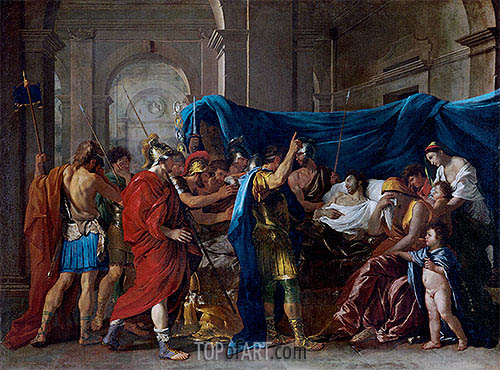 The Death of Germanicus, 1627 | Nicolas Poussin| Painting Reproduction