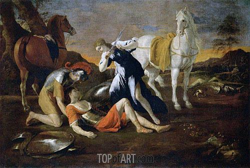Tancred and Erminia, c.1628/32 | Nicolas Poussin | Painting Reproduction