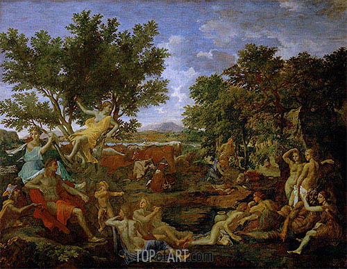 Apollo, Lover of Daphne, c.1664 | Nicolas Poussin| Painting Reproduction
