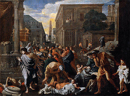 The Plague of Ashdod (The Philistines Struck by the Plague), c.1630/31 | Nicolas Poussin | Painting Reproduction