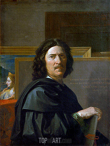 Self Portrait, 1650 | Nicolas Poussin| Painting Reproduction
