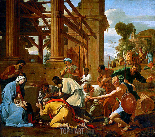 Adoration of the Magi, 1633 | Nicolas Poussin| Painting Reproduction