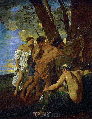 The Arcadian Shepherds (Et in Arcadia Ego), c.1630 | Nicolas Poussin| Painting Reproduction