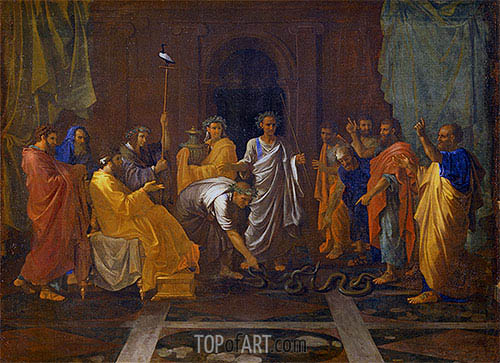 Moses and the Brazen Serpent, c.1645/48 | Nicolas Poussin | Painting Reproduction