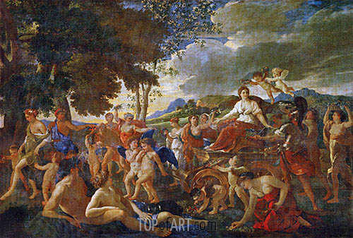 The Triumph of Flora, c.1627/28 | Nicolas Poussin| Painting Reproduction