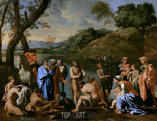 St. John Baptising the People, c.1636/37 | Nicolas Poussin | Gemälde Reproduktion