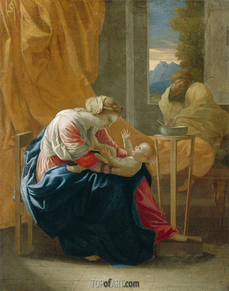 The Holy Family (The Roccatagliata Madonna), 1641 | Nicolas Poussin| Gemälde Reproduktion