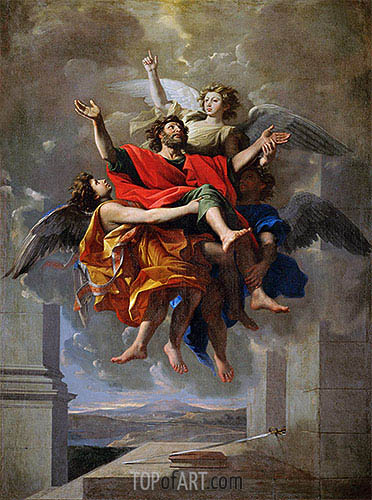 The Vision of St. Paul, c.1649/50 | Nicolas Poussin| Painting Reproduction