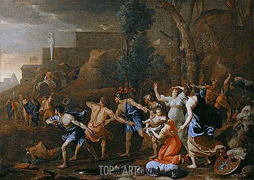 The Saving of the Infant Pyrrhus, 1634 | Nicolas Poussin | Gemälde Reproduktion