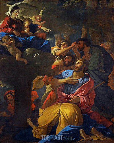 The Virgin Appears to Saint James the Elder, c.1629/30 | Nicolas Poussin| Painting Reproduction