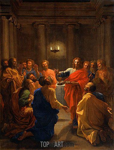 Christ Instituting the Eucharist (The Last Supper), 1640 | Nicolas Poussin | Gemälde Reproduktion