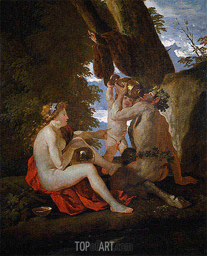 A Bacchic Scene, c.1630/31 | Nicolas Poussin | Painting Reproduction