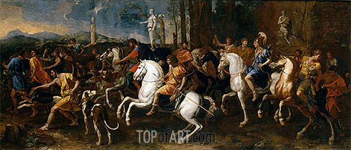 Atalanta and Meleager's Hunt, c.1637/38 | Nicolas Poussin | Painting Reproduction