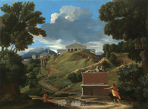 Landscape with Ruins, c.1634 | Nicolas Poussin | Painting Reproduction