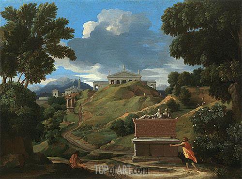 Nicolas Poussin | Landscape with Ruins, c.1634