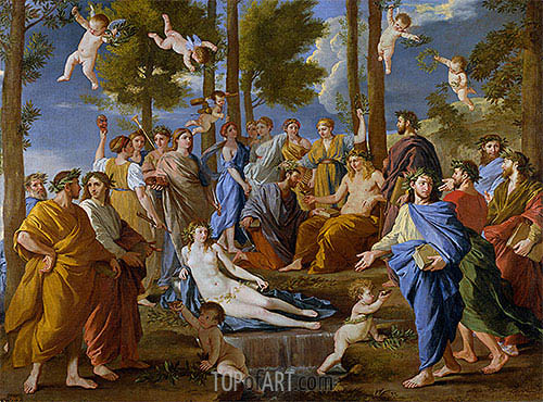 Parnassus, c.1630/31 | Nicolas Poussin | Painting Reproduction