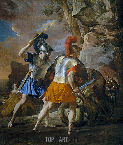 The Companions of Rinaldo, c.1633 | Nicolas Poussin| Painting Reproduction