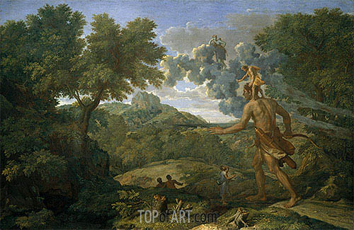 Blind Orion Searching for the Rising Sun, 1658 | Nicolas Poussin | Painting Reproduction