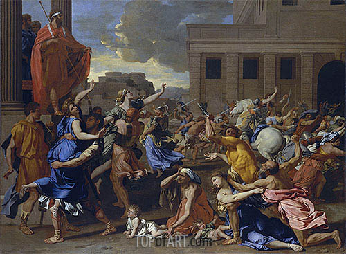 The Abduction of the Sabine Women, c.1633/34 | Nicolas Poussin| Painting Reproduction