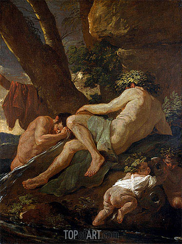 Midas Washing at the Source of the Pactolus, c.1627 | Nicolas Poussin| Painting Reproduction