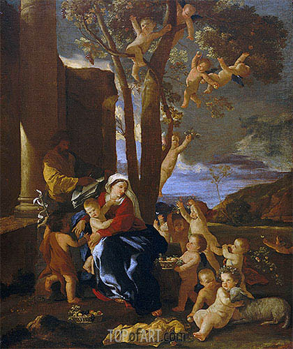 The Rest on the Flight into Egypt, c.1627 | Nicolas Poussin | Painting Reproduction
