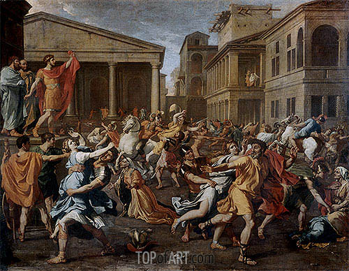 Rape of the Sabine Women, c.1637/38 | Nicolas Poussin| Gemälde Reproduktion