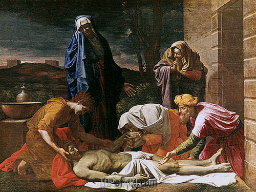 Entombment of Christ, c.1655/57 | Nicolas Poussin | Painting Reproduction