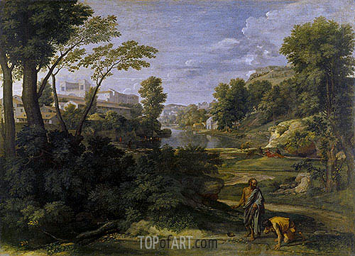 Nicolas Poussin | Landscape with Diogenes, 1648