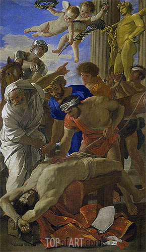 Martyrdom of Saint Erasmus, 1628 | Nicolas Poussin| Painting Reproduction