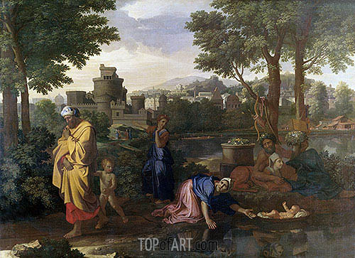 The Exposition of Moses (Moses Set Adrift on the Waters), 1654 | Nicolas Poussin | Painting Reproduction
