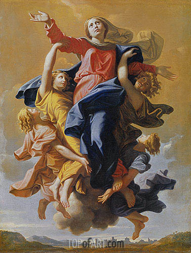 Assumption of the Virgin, c.1649/50 | Nicolas Poussin | Painting Reproduction