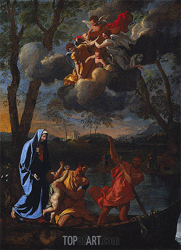 The Return of the Holy Family to Nazareth, c.1627 | Nicolas Poussin| Painting Reproduction