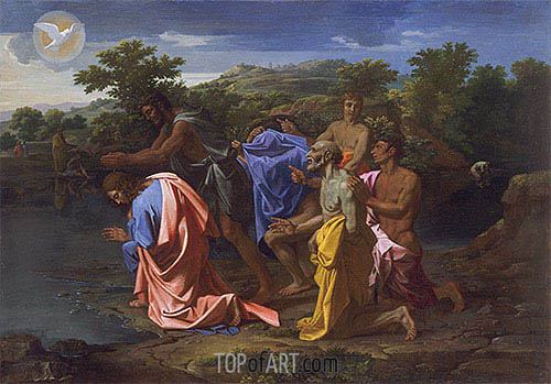 Nicolas Poussin | The Baptism of Christ, c.1658