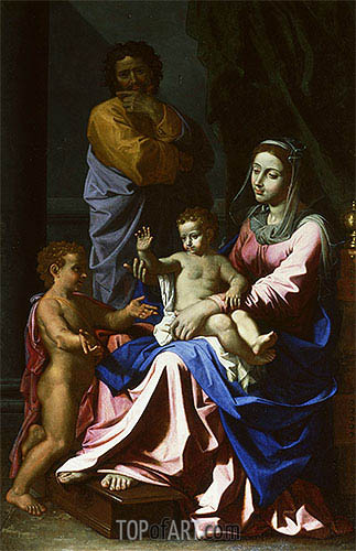 The Holy Family with the Infant Saint John the Baptist, 1655 | Nicolas Poussin| Painting Reproduction