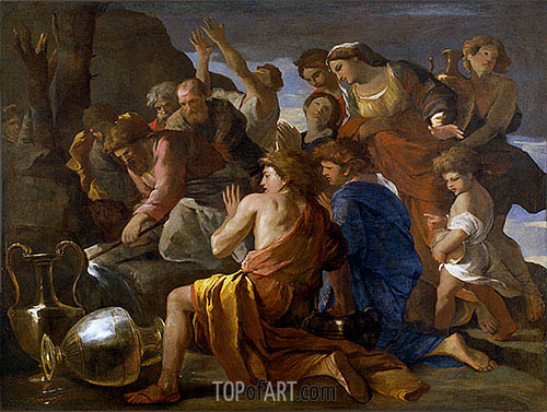 Moses Sweetening the Waters of Marah, c.1627/28 | Nicolas Poussin | Painting Reproduction