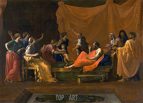 The Infant Moses Trampling Pharoah's Crown, c.1645/48 | Nicolas Poussin | Gemälde Reproduktion