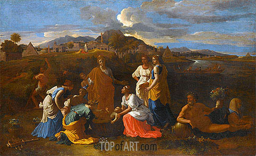 Moses Rescued from the Water, 1647 | Nicolas Poussin| Painting Reproduction