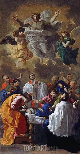 Nicolas Poussin | Saint Francis Xavier Resurrecting the Son of an Inhabitant of Cangoxima in Japan, 1641