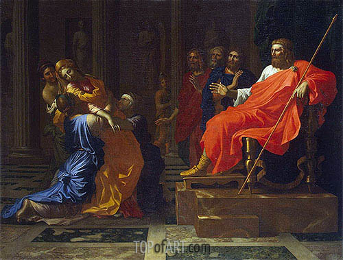 Esther before Ahasuerus, c.1655/60 | Nicolas Poussin | Gemälde Reproduktion
