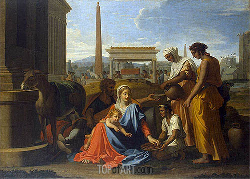 Nicolas Poussin | Holy Family in Egypt, c.1655/57
