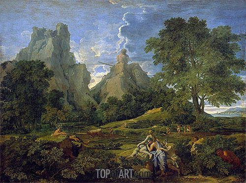 Landscape with Polyphemus, 1649 | Nicolas Poussin | Gemälde Reproduktion