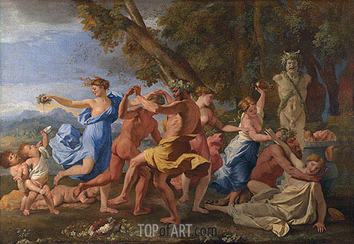 A Bacchanalian Revel before a Term, c.1632/33 | Nicolas Poussin | Painting Reproduction