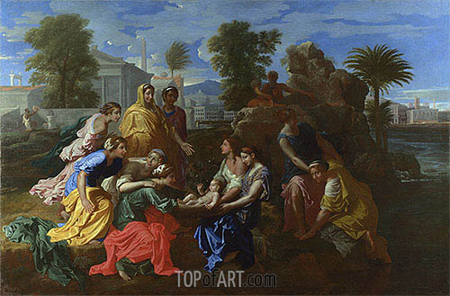 The Finding of Moses, 1651 | Nicolas Poussin | Gemälde Reproduktion