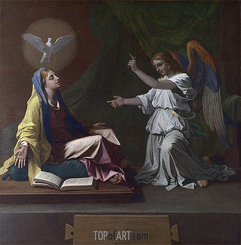 The Annunciation, 1657 | Nicolas Poussin | Painting Reproduction