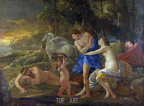 Cephalus and Aurora, c.1630 | Nicolas Poussin| Painting Reproduction