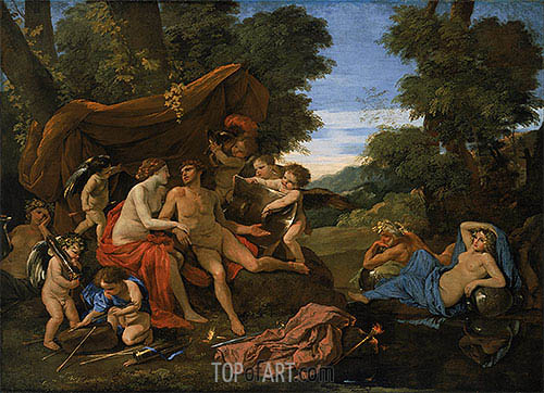 Mars and Venus, c.1630 | Nicolas Poussin | Painting Reproduction