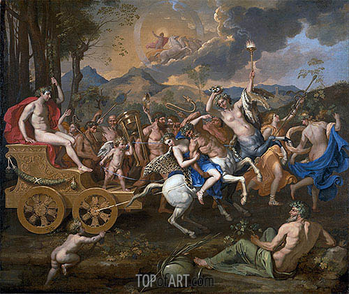 The Triumph of Bacchus, c.1635/36 | Nicolas Poussin | Gemälde Reproduktion