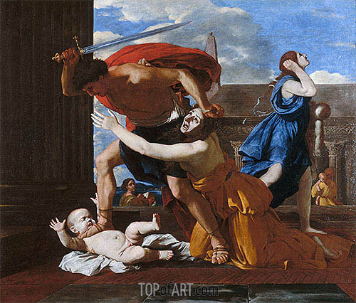 The Massacre of the Innocents, c.1625/26 | Nicolas Poussin| Gemälde Reproduktion
